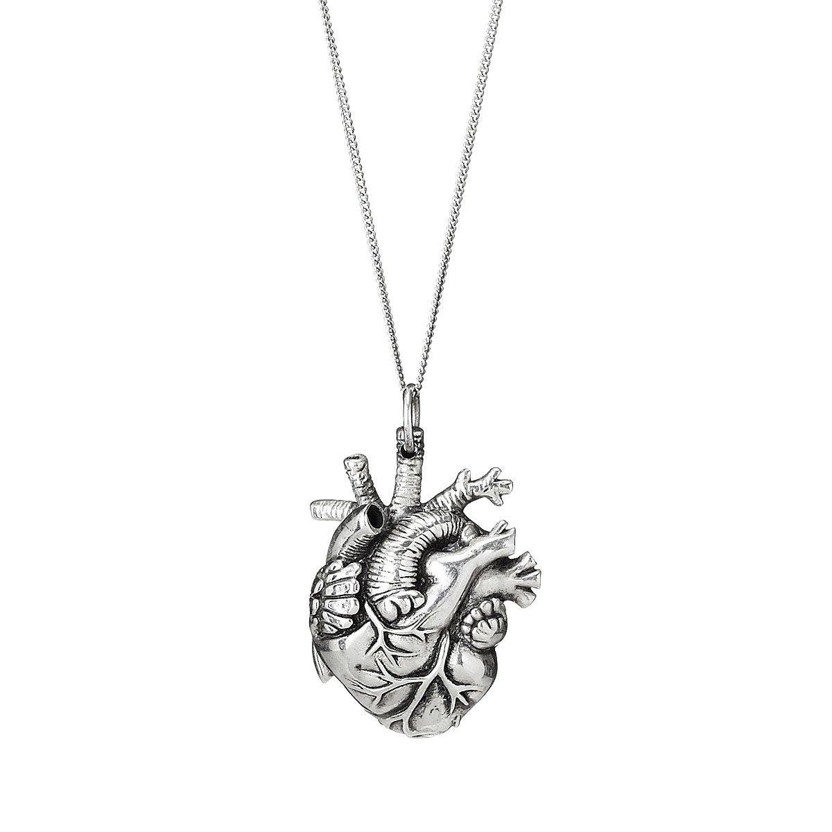 Anatomical heart pendant heart necklace uncommongoods anatomical heart pendant 2 thumbnail aloadofball Image collections