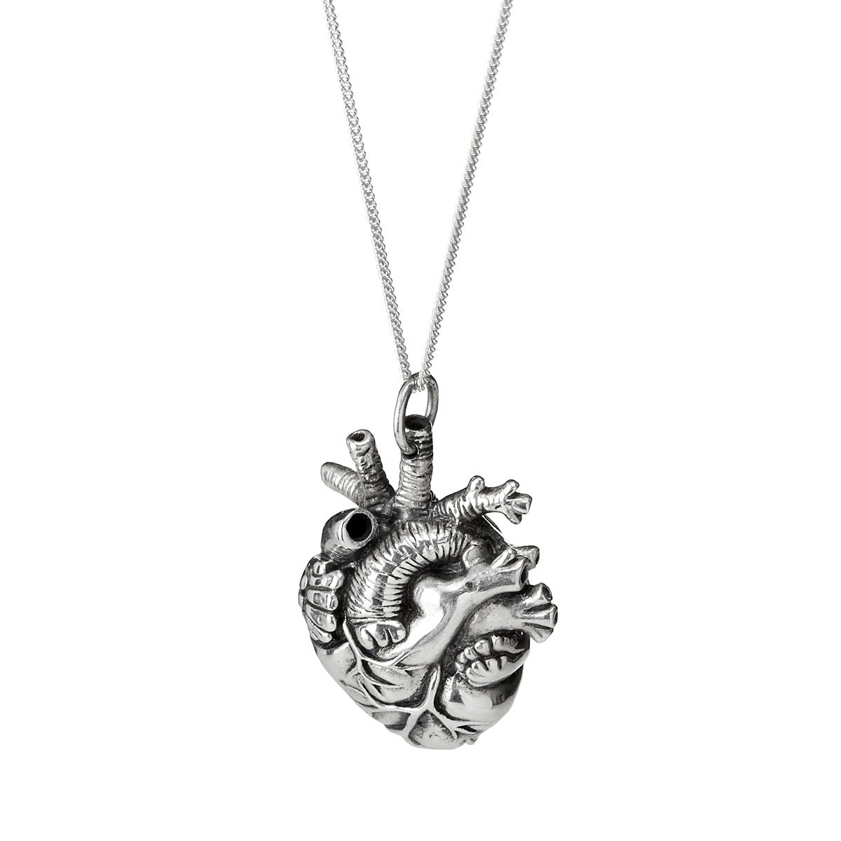 heart double jewellery hand fingerprint large necklace charm on
