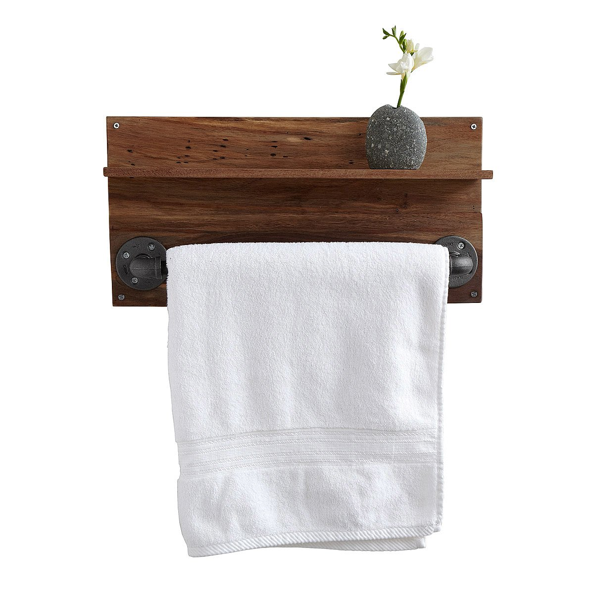 Wood towel bars for bathrooms - Reclaimed Walnut Towel Rack 1 Thumbnail