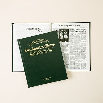 LA Times Custom Birthday Book