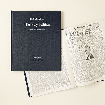 Customizable New York Times Custom Birthday Book