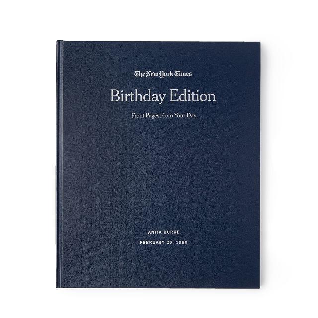New York Times Custom Birthday Book Personalized News Uncommongoods