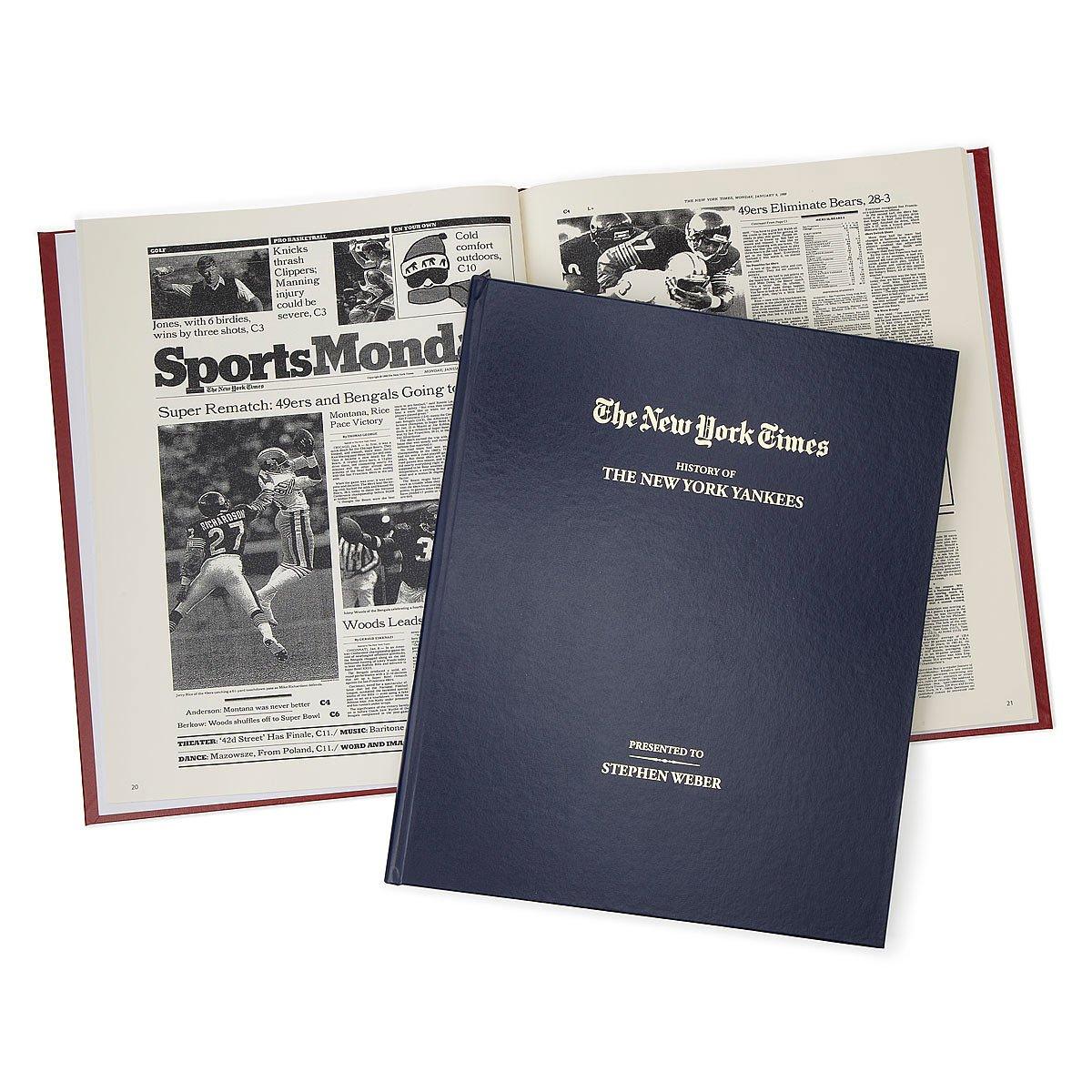 New York Times Custom Sports Book   sports news   UncommonGoods