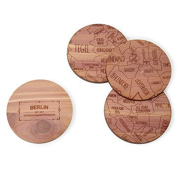 Neighborwoods European Map Coasters
