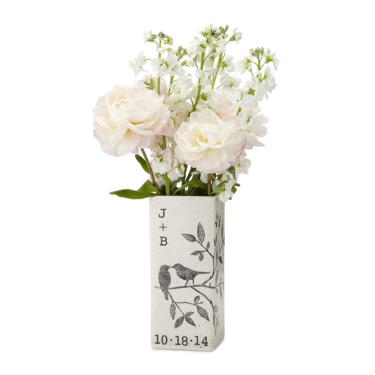 custom inches vase transfer stands process bud photos tall photo handmade by family in preserved the glass intricate memory pin diameter your beginn is this personalized are