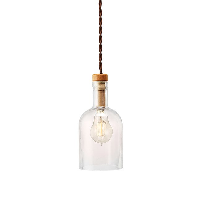 Upcycled bottle pendant lamp recycled glass light uncommongoods upcycled bottle pendant lamp aloadofball Images