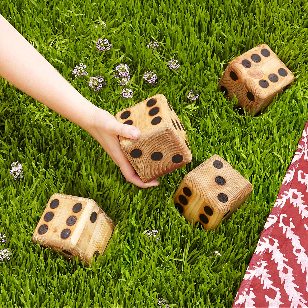 yard dice backyard games dice wooden game uncommongoods