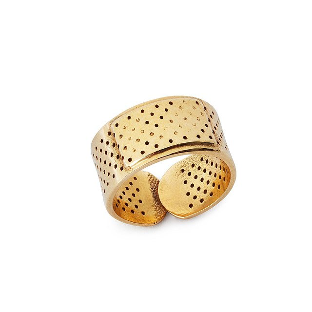 Polished Bronze Bandage Ring
