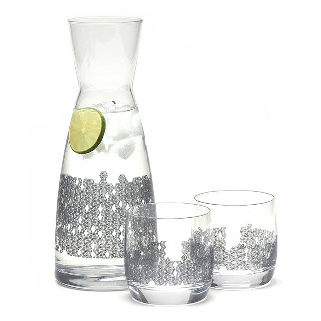 Cube Glasses and Carafe Set
