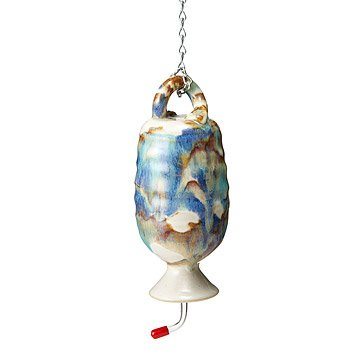 Pottery Hummingbird Feeder