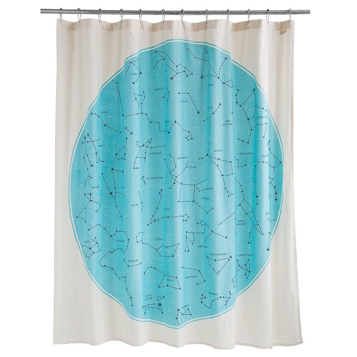 Birch tree shower curtains - Galaxy Shower Curtain