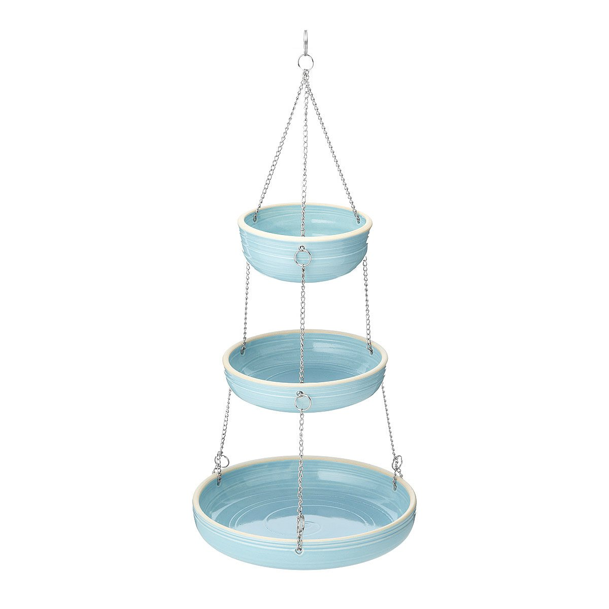 Stoneware 3 Tiered Hanging Baskets | fruit hanger, sculpture ...