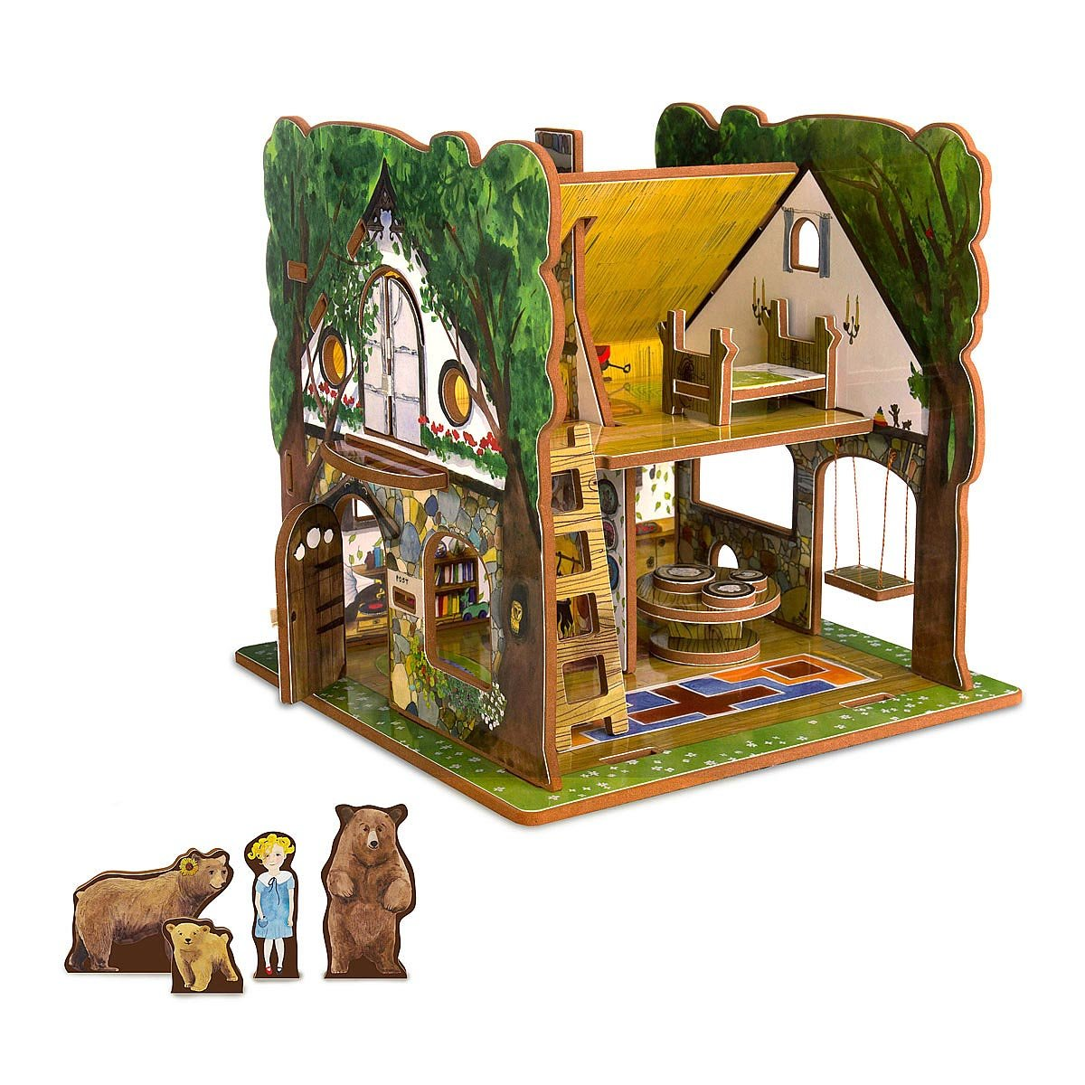 Unique toddler toys fun toys for babies uncommongoods goldilocks and the three bears toy house gamestrikefo Gallery