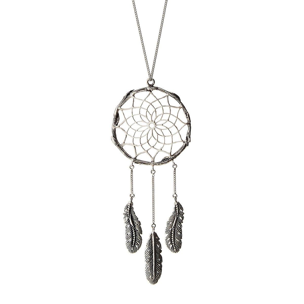 Silver dreamcatcher pendant handmade silver necklace uncommongoods silver dreamcatcher pendant 1 thumbnail mozeypictures Choice Image