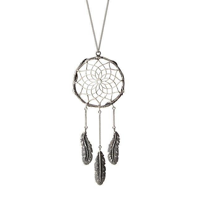 Silver dreamcatcher pendant handmade silver necklace uncommongoods silver dreamcatcher pendant aloadofball Images