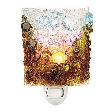 Recycled Glass Mountain Sunrise Nightlight