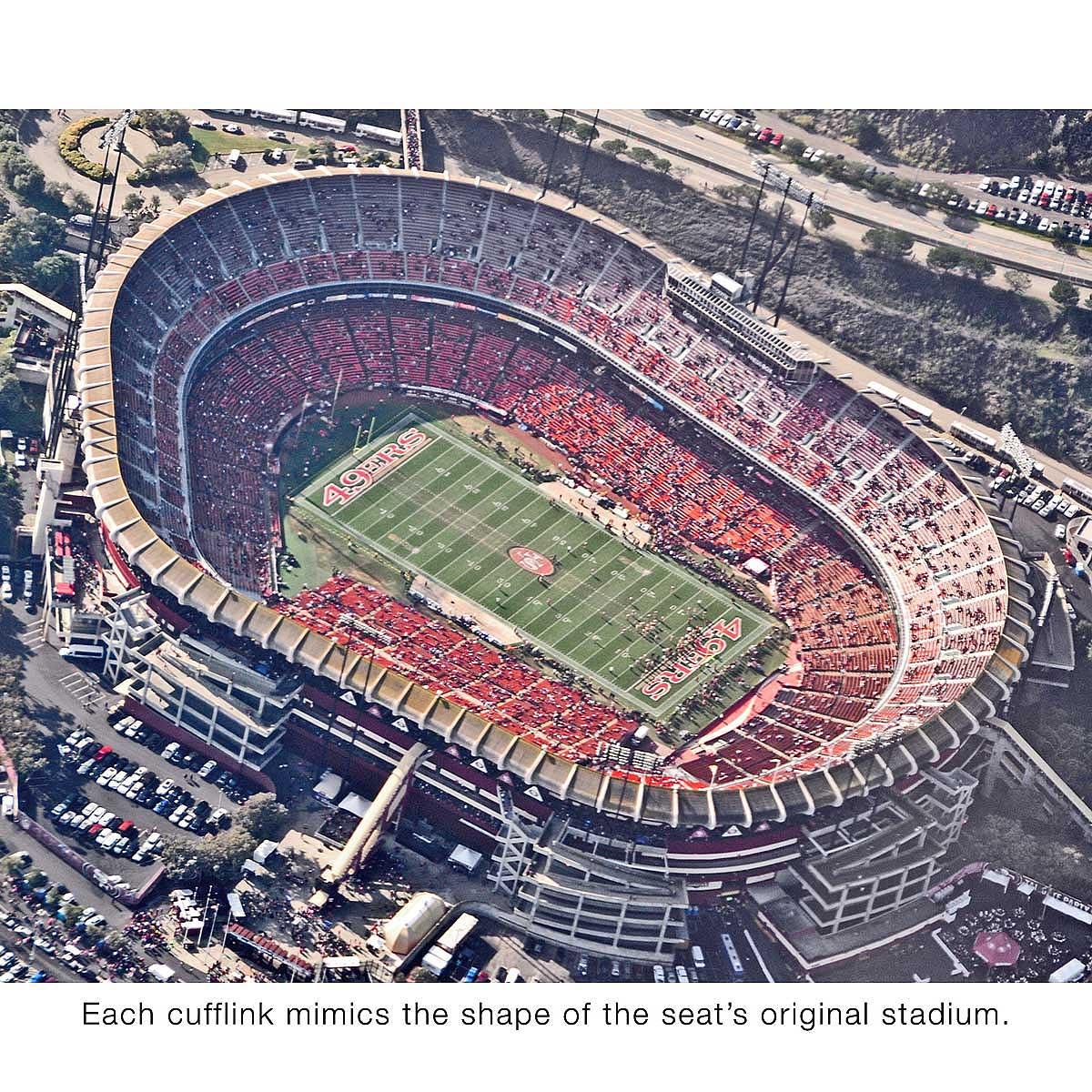 authentic nfl stadium seat cufflinks sports fan gift uncommongoods