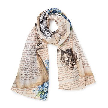 Alice in Wonderland Illustration Scarf