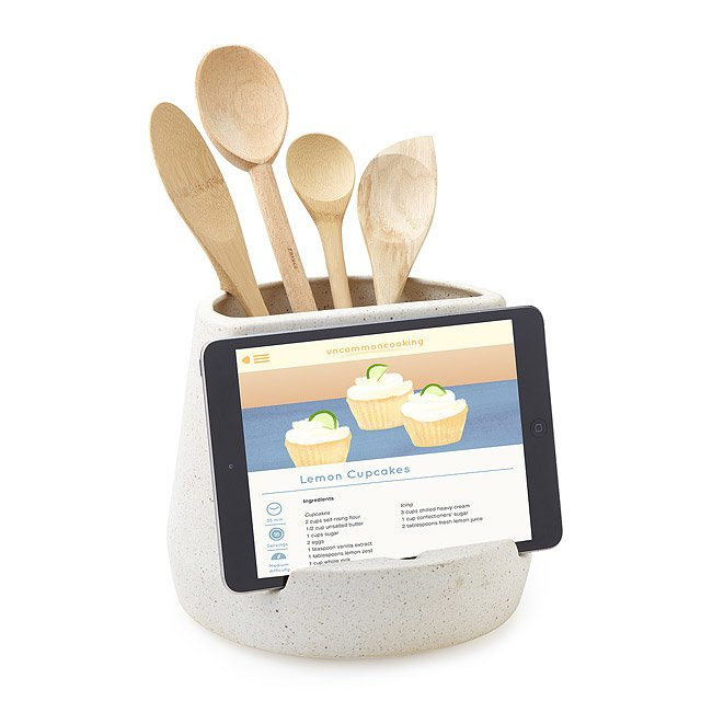 Kitchen utensil and tablet holder ipad cookbook stand uncommongoods kitchen utensil and tablet holder workwithnaturefo