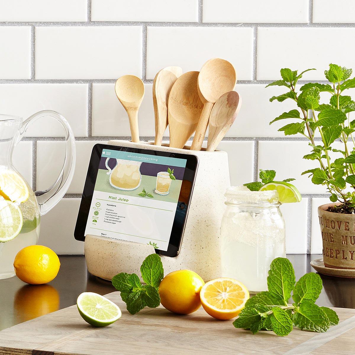 Kitchen Utensil And Tablet Holder 4 Thumbnail