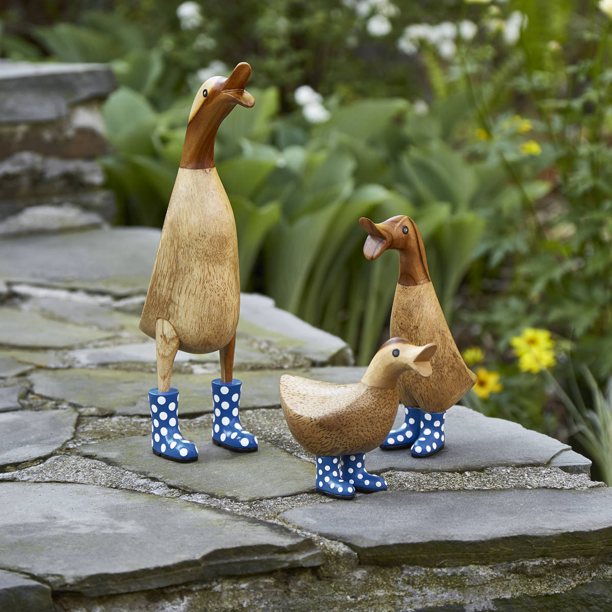 spotted wellies garden ducks 1 thumbnail - Pictures Of Ducks