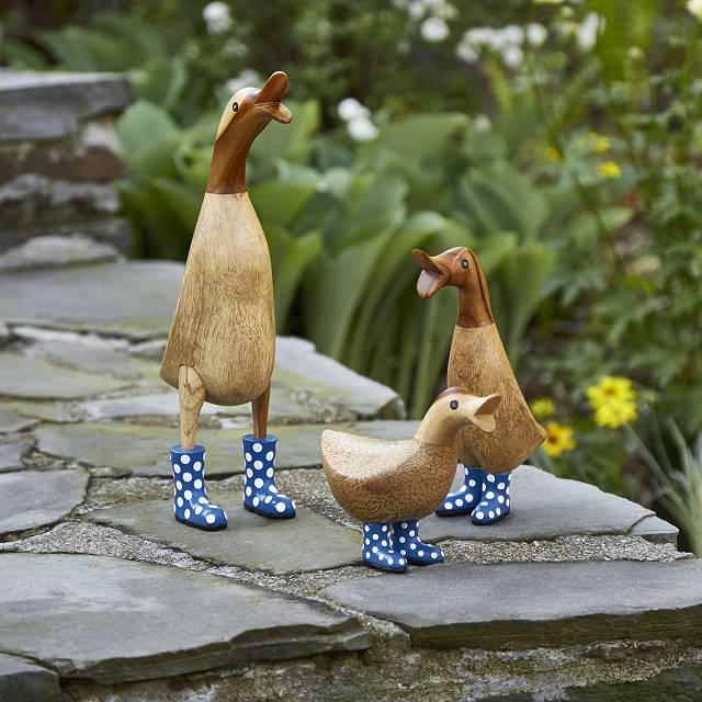 Spotted Wellies Garden Ducks