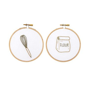 Baking Duo Embroidery Hoop Art