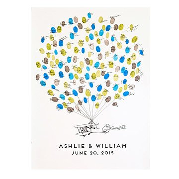 Thumbprint Alternative Guestbook - Prop Plane
