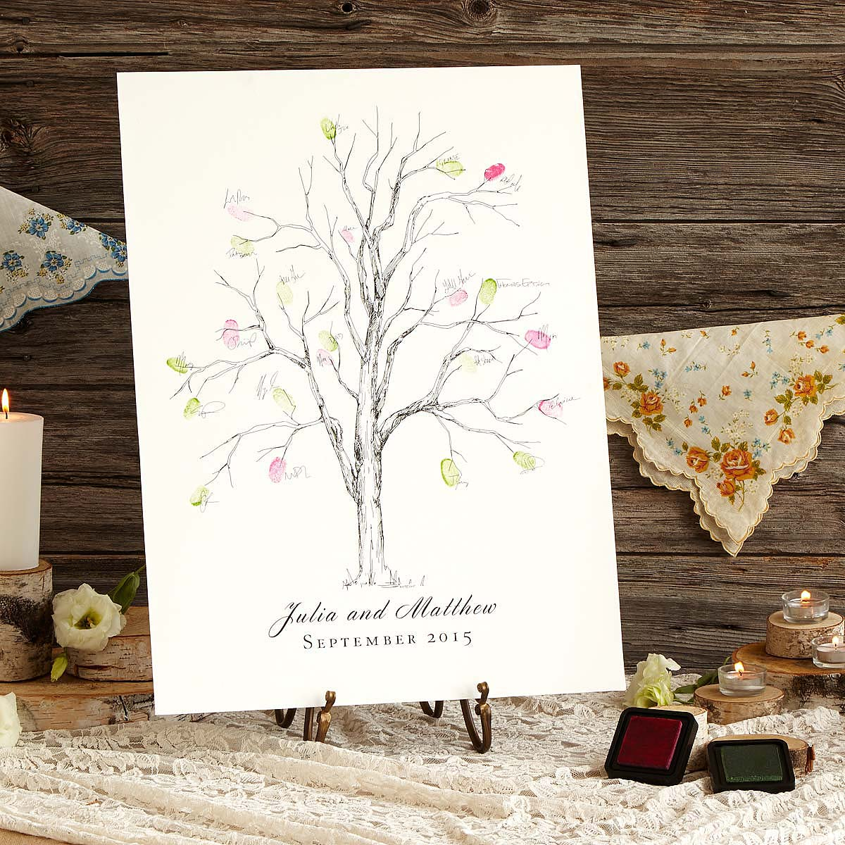 Thumbprint Alternative Guestbook - Ash Tree | Fingerprint Wedding ...