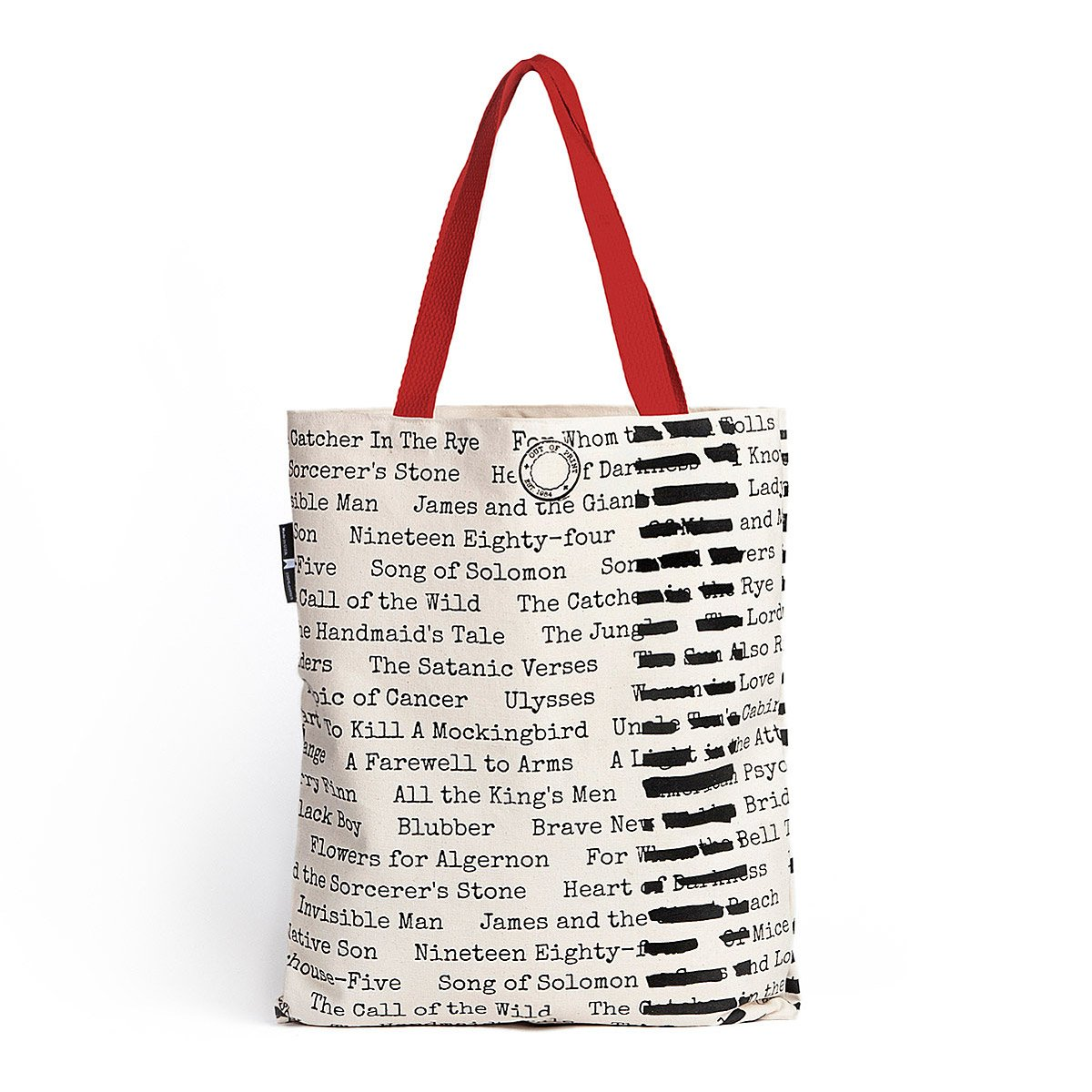 Tote Bag - Banned Books   This literary tote bag is printed with ...