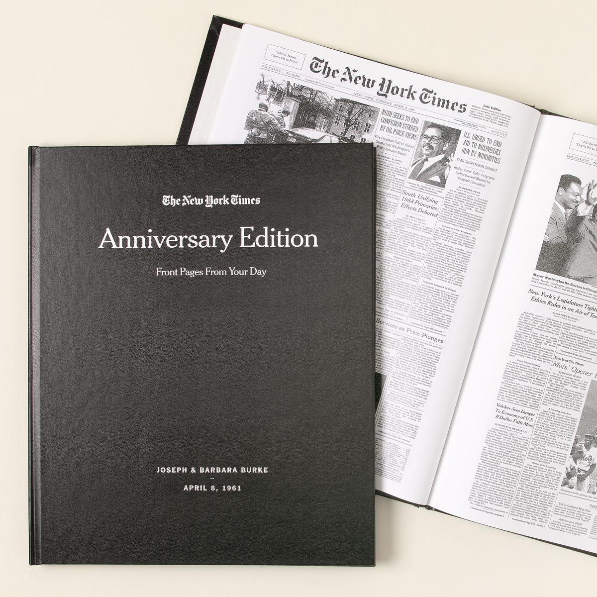 new york times custom anniversary book