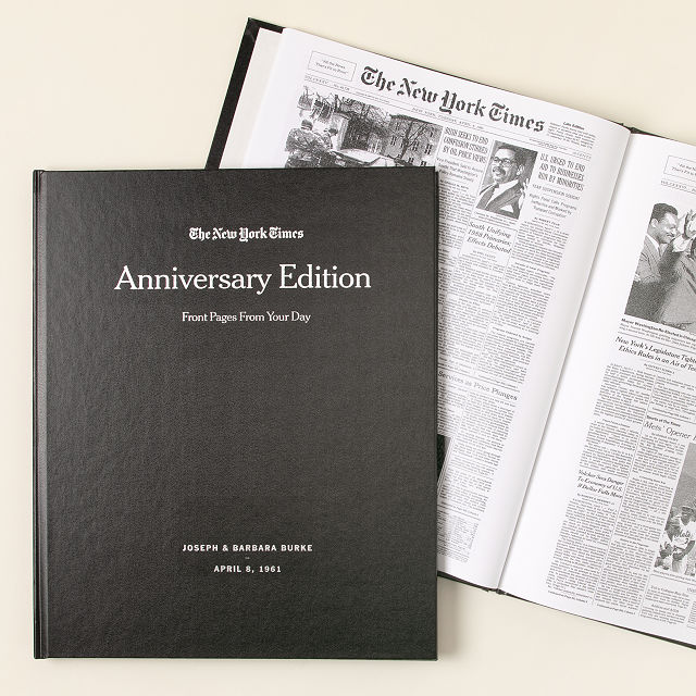 new york times custom anniversary book personalized anniversary