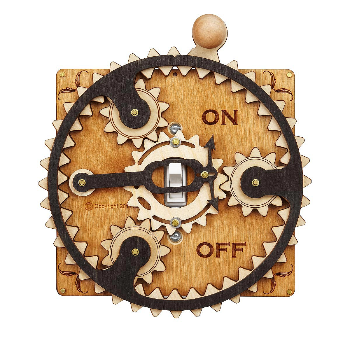 Decorative Light Switch Plates Planet Gear Switch Plate Laser Cut Steampunk Light Switch Covers