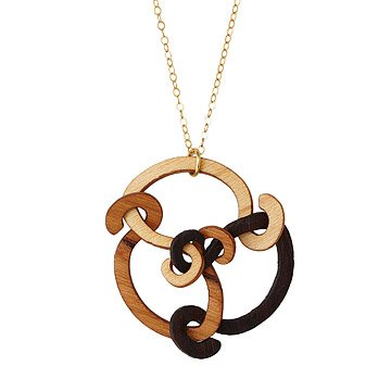 Trinity Wooden Necklace