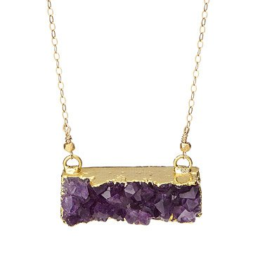 Druzy Rectangle Necklace