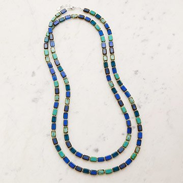 Mosaic Necklace in Ocean