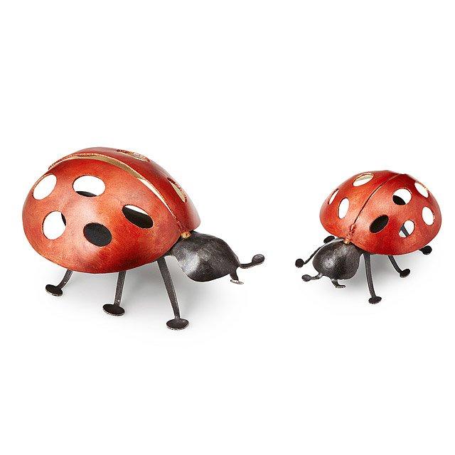 Steel Ladybug Garden Sculpture