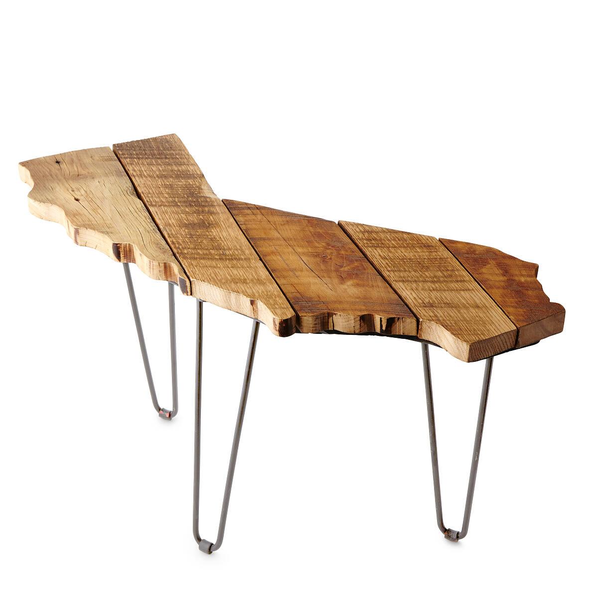 Barnwood State Side Tables 2 thumbnail - Barnwood State Side Tables Reclaimed Wood Table UncommonGoods