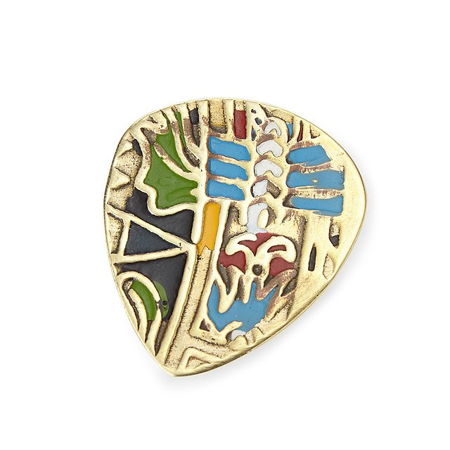 Mayan Brass Guitar Pick