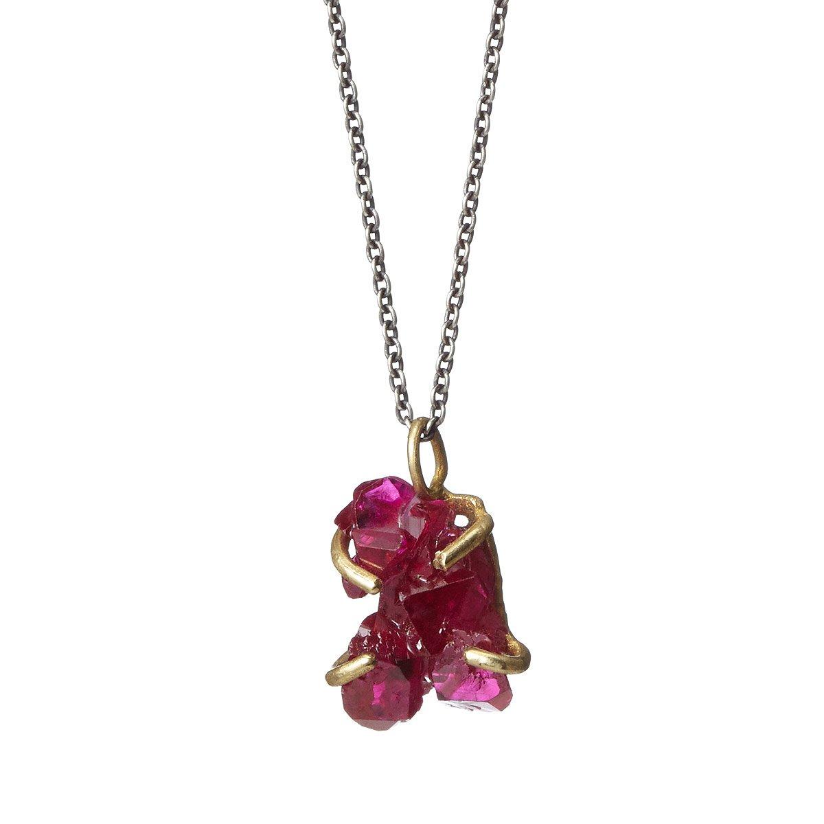 Ruby crystal talisman pendant handmade ruby jewelry uncommongoods ruby crystal talisman pendant 2 thumbnail aloadofball Image collections