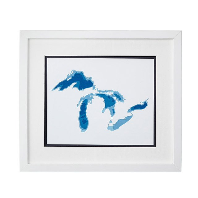 The Great Lakes Papercut Art