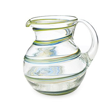Recycled Spiral Glass Pitcher