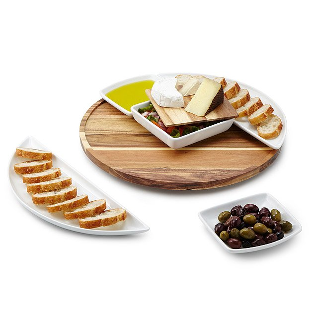 Lazy Susan with Serving Dishes