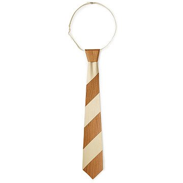 Striped Wooden Necktie in Cherry and Aspen