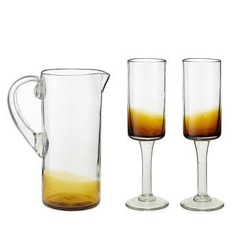 Recycled Amber Glassware