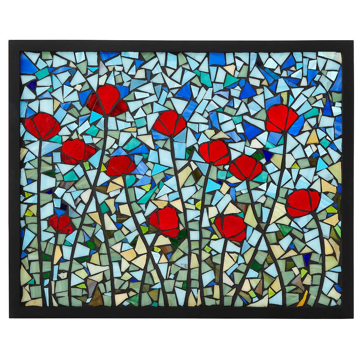 Perfect Poppies Stained Glass Panel 1 Thumbnail Amazing Pictures