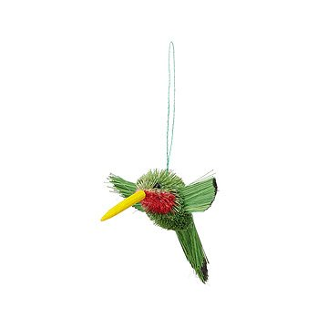 Buri Fiber Hummingbird Ornament