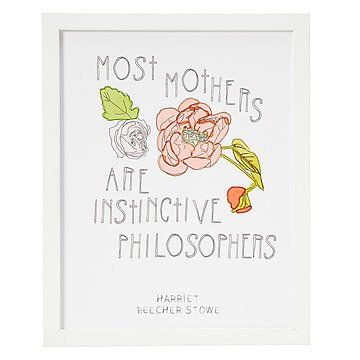 Most Mothers are Instinctive Philosophers