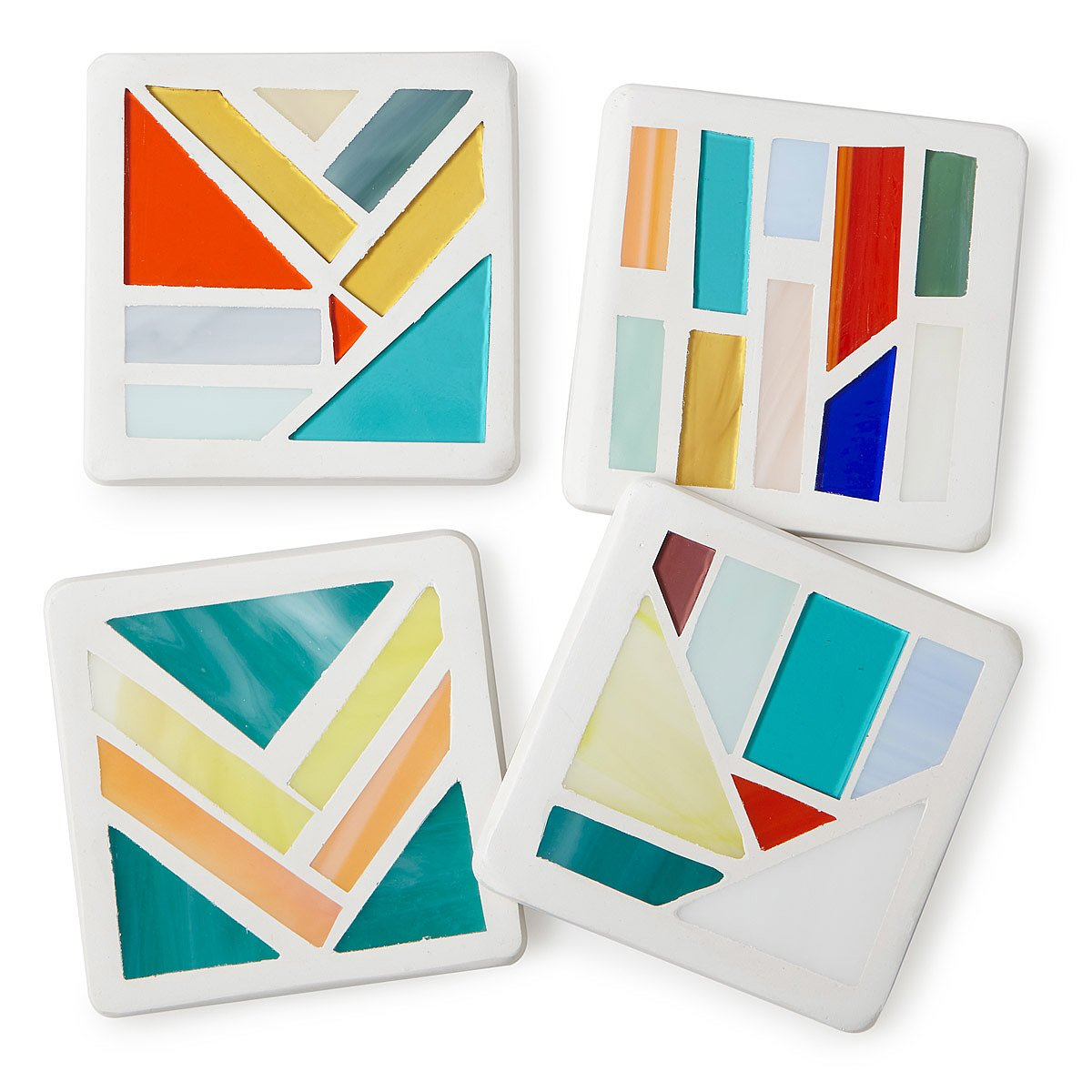 stained glass coasters  set of   mosaic coasters colorful  - stained glass coasters  set of   thumbnail