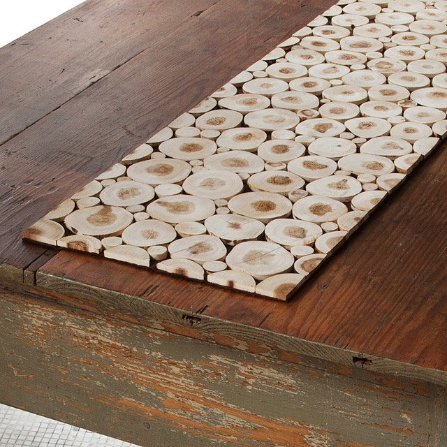 Merveilleux Reclaimed Wood Branch Table Runner